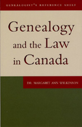 Genealogy and the Law in Canada cover
