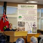 Angela Johnson, Chair, outlines an active Quinte Branch program