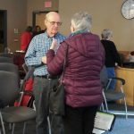 Bob engages with workshop participant one-on-one