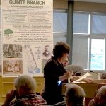 Heather Semper describes the current Quinte Branch membership