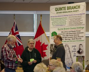 Terry Buttler, Past Chair, and Peter Johnson, Cemeteries Convenor, chat with Brian Laurie-Beaumont before the workshop