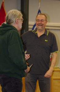 Peter Johnson, Cemeteries Convenor, thanking Brian Laurie-Beaumont for an excellent presentation