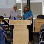 Bob Dawes, Program Convenor, thanks Leanne Cooper for an excellent presentation