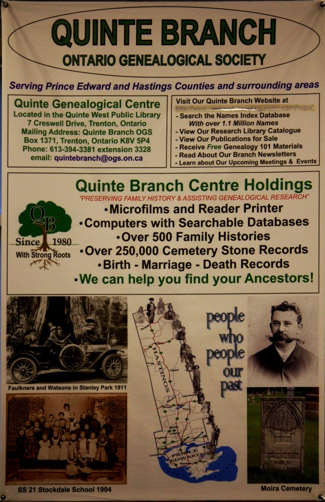 QUINTE BRANCH GENEALOGY LIBRARY