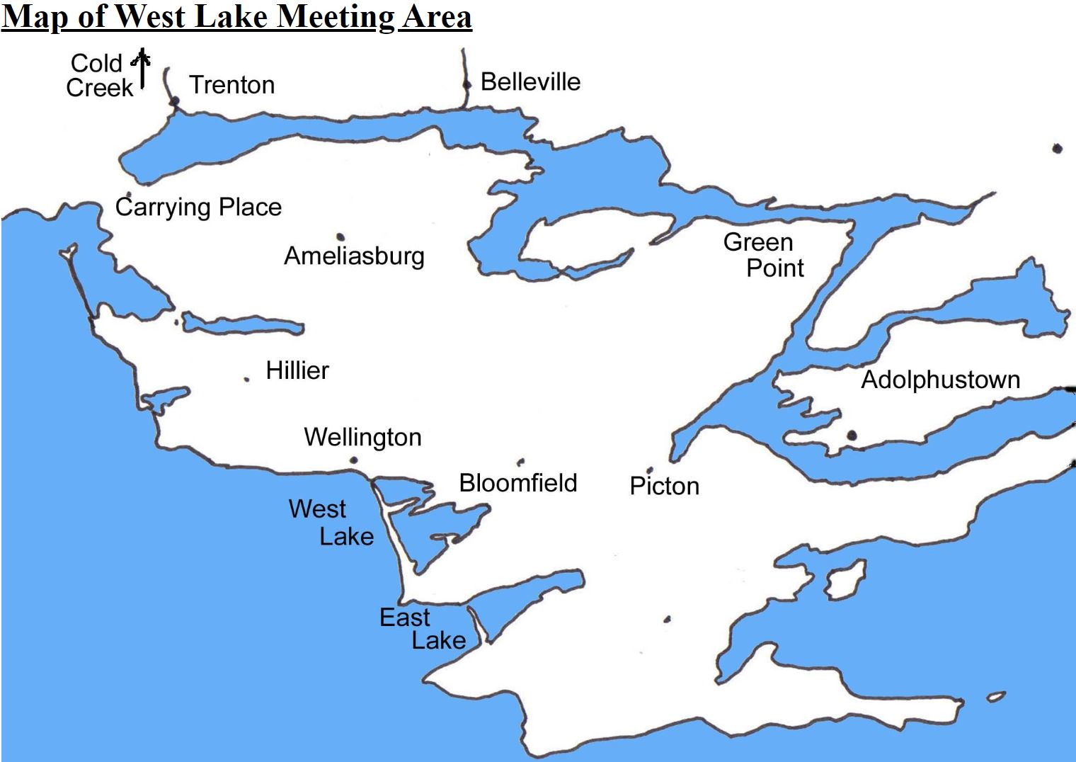 Map of West Lake Meeting Area