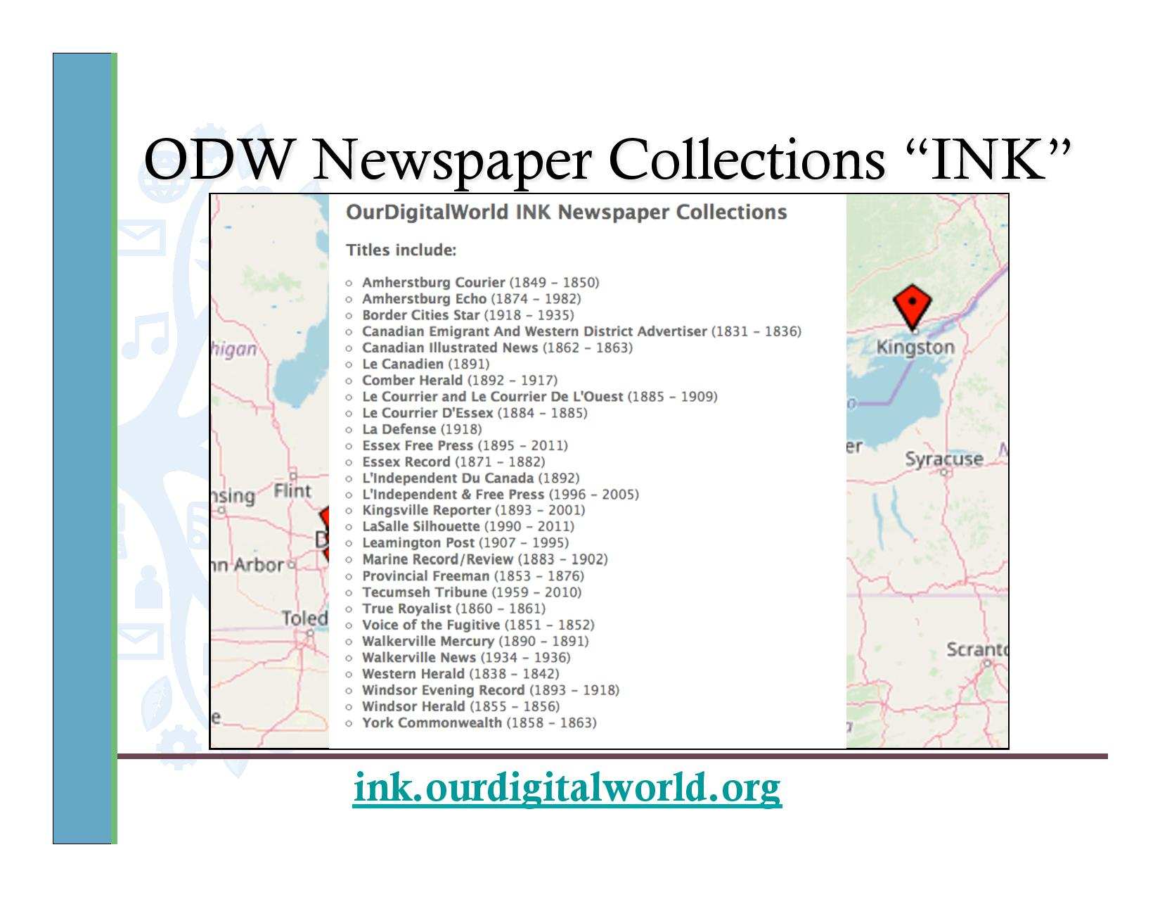 "ODW Newspaper Collections ""INK"""
